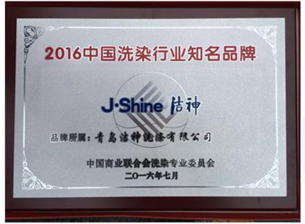 2016中国洗染行业知名品牌